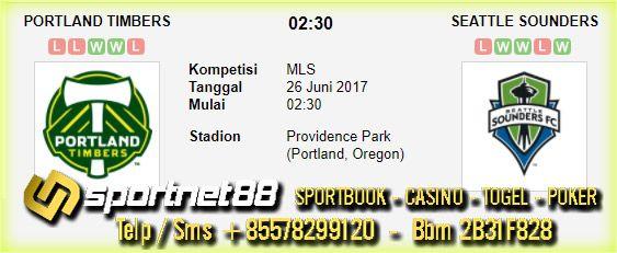 Prediksi Skor Bola Portland Timbers vs Seattle Sounders 26 Jun 2017 MLS di Providence Park (Portland, Oregon) pada hari Senin jam 02:30 live di beIn Sport 1
