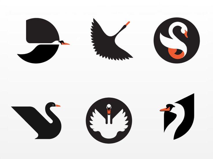 Collection of failed swan logos by Hernan Valencia