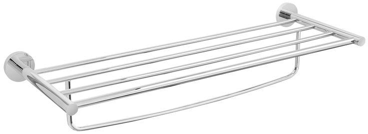Die formschöne Handtuchstange aus der Serie EOS besticht durch ihre schlichte Eleganz. Die Wandhalter aus hochwertigen verchromten Messing bietet mit den drei Stangen und einer Länge von 60 cm genug Platz für Handtücher und Duschtücher. Die Befestigung erfolgt entweder mit Schrauben oder mit einem speziellen 2-Komponenten-Kleber.
