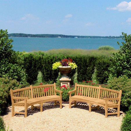 Curved Bench   Windermere Teak Bench   Country Casual