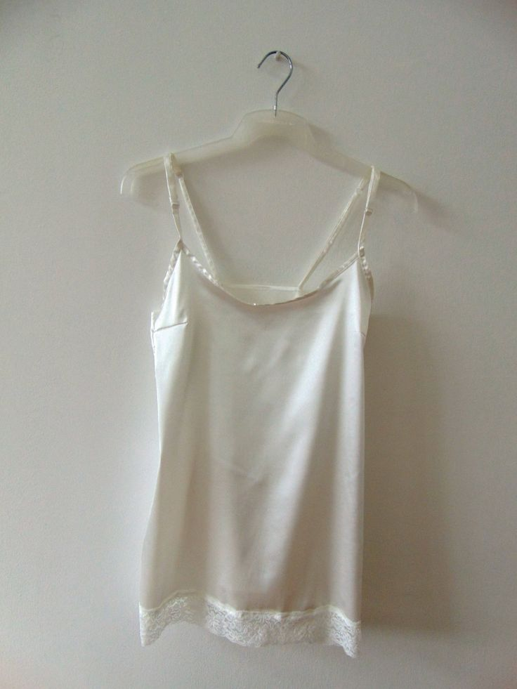 Silk Ivory camisoles by PillangoGallery on Etsy