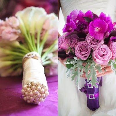 Post do dia: Acabamento de buquê de noiva.