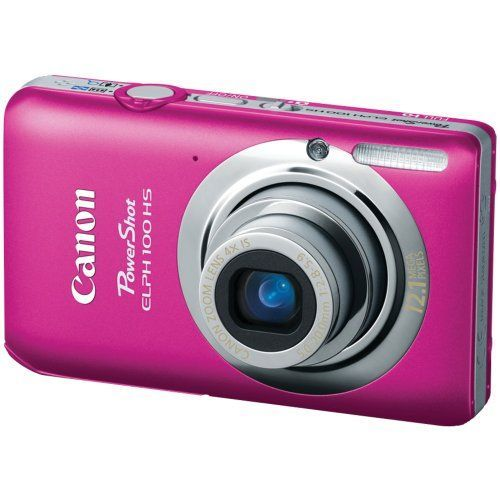 Canon PowerShot ELPH 100 HS 12.1 MP CMOS Digital Camera with 4X Optical Zoom (Pink), Best Gadgets