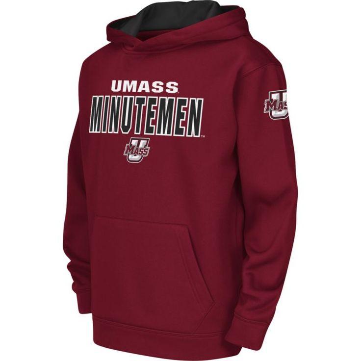 Colosseum Youth UMass Minutemen Maroon Fleece Hoodie, Size: Medium, Team
