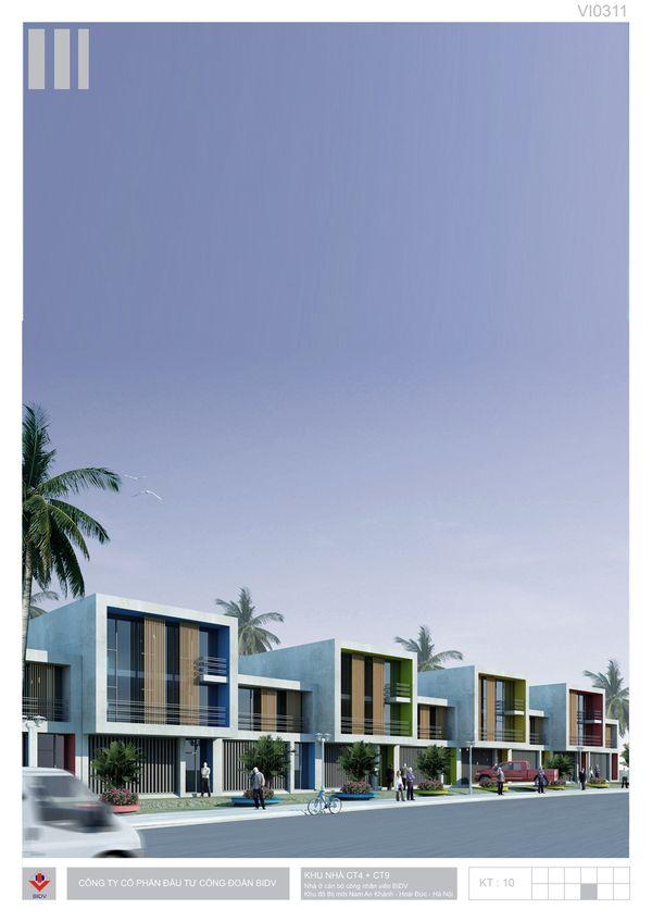 BIDV Village, housing typology on Behance