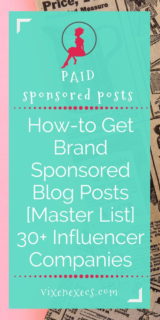 127 best blogging for newbies images on pinterest blogging 30 influence marketing companies that will pay you to write sponsored blog posts connect fandeluxe Choice Image