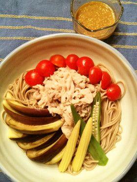 Sesame Miso Cold Soba Noodle  ごま味噌だれ冷し蕎麦
