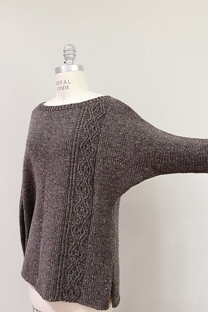 Nikki black grey diagonal strip sweater this