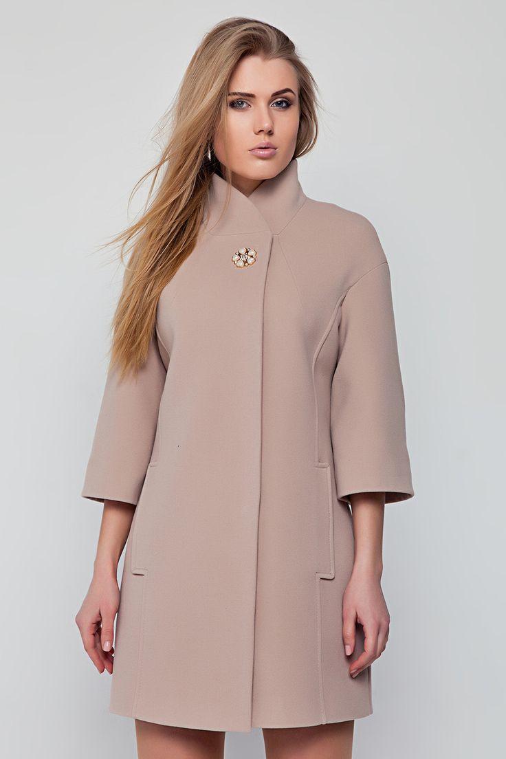 Пальто кашемировое Вегас цвет крем - La-caramella в Днепре