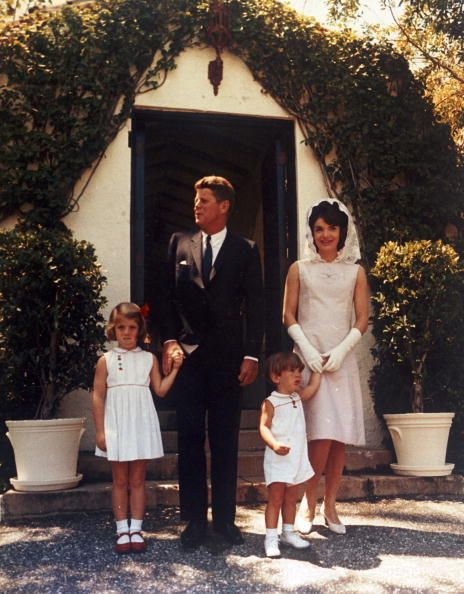 JFK, Jackie, Caroline and John Jr., at JFK's father Jospeh P Kennedy's estate in Palm Beach, FL on Easter, 1963.Jfk S Fathers, Fathers Jospeh, Kennedy'S Estate, Palm Beach, John F Kennedy In Palms Beach, John Jr, Jackie, Camelot Kennedy'S, The Kennedy