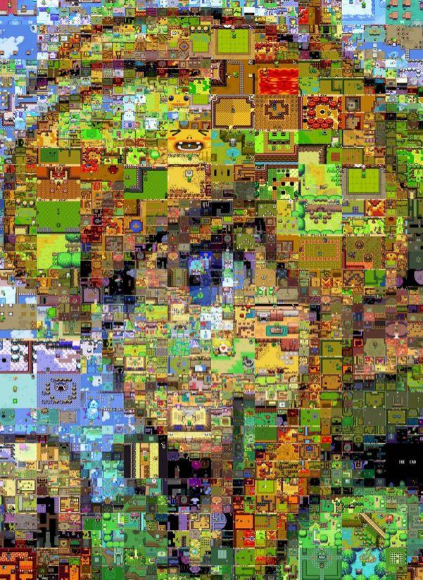 Avec des screens issus des jeux Zelda, un artiste est parvenu à reproduire le visage de Link !