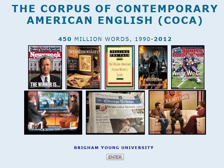 「COCA corpus」的圖片搜尋結果