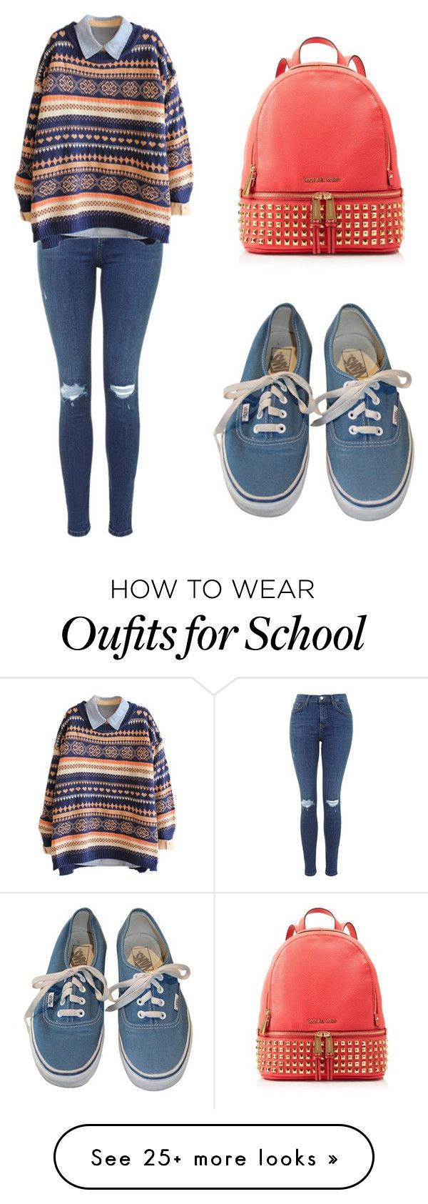 """""""school day"""" by tania-alves on Polyvore featuring Vans, MICHAEL Michael Kors, women's clothing, women, female, woman, misses and juniors"""