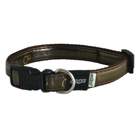 Rogz Pupz Zing Zip Zap Zo Dog collar Choc - Medium - Rogz pupz - globaldogshop.com