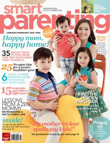 Gladys Reyes Covers Smart Parenting Magazine January/February 2012 ... More information about parenting at yourparentingtips.com