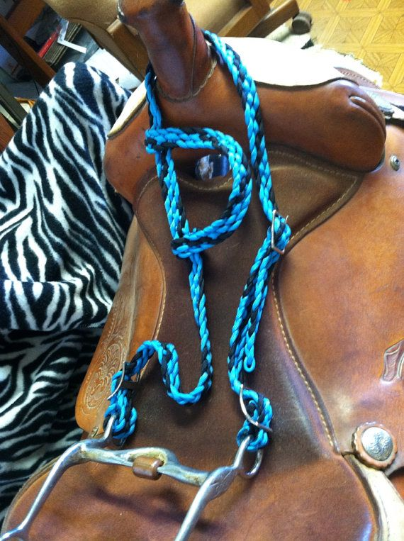 Hand braided one ear headstall paracord headstall for Paracord horse bridle