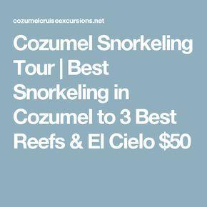 Cozumel Snorkeling Tour | Best Snorkeling in Cozumel to 3 Best Reefs & El Cielo $50
