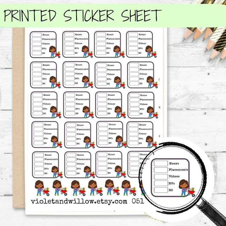 PRINTED Field Service Tracker Stickers, Service Planner Stickers,   JW Planner Stickers, Theocratic Stickers , Ministry Stickers by VioletandWillow on Etsy https://www.etsy.com/ca/listing/277252880/printed-field-service-tracker-stickers