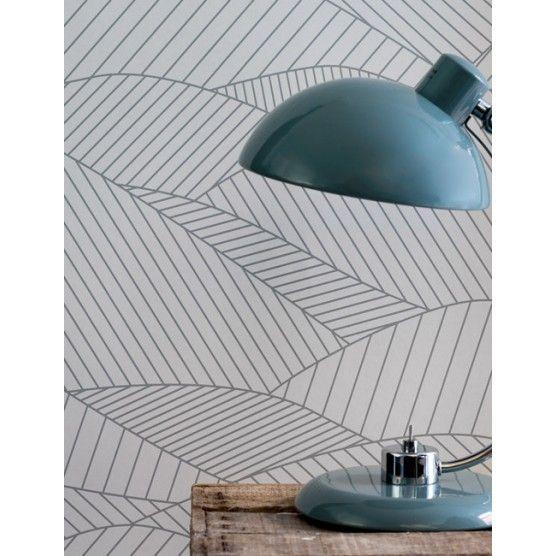 South Downs Wallpaper in Heron Grey