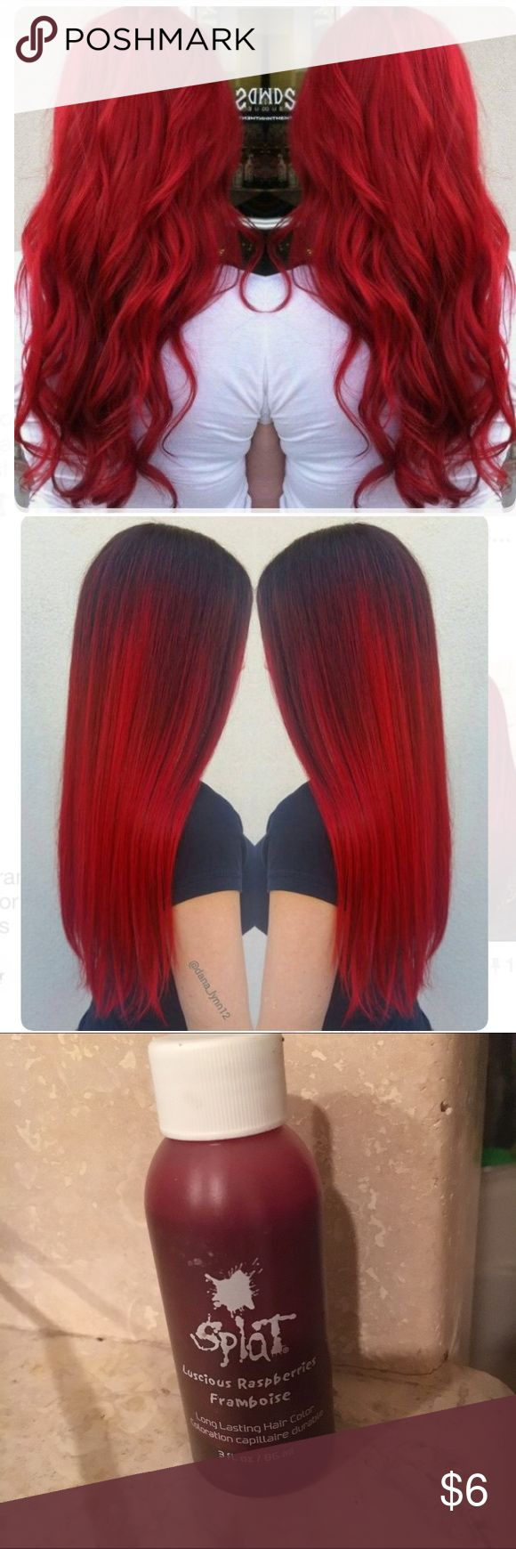 Splat red hair dye Bright red Ariel mermaid hair color. Lasts months! splat  Accessories Hair Accessories                                                                                                                                                                                 Más