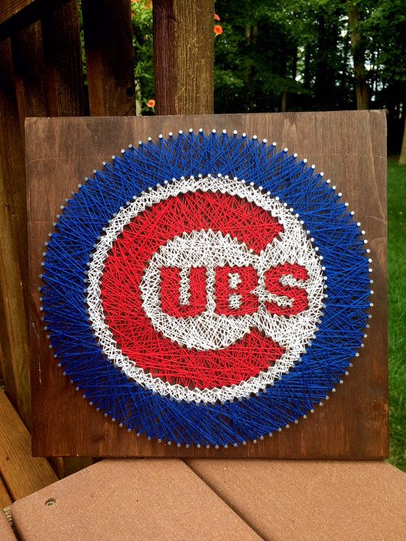 Chicago Cubs String Art by My3Maries on Etsy