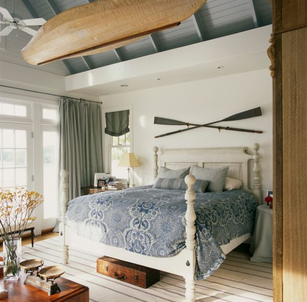 Alluring Canoe Finds An Interesting Spot Nautical Themed Bedroom With  Wooden Furnitures