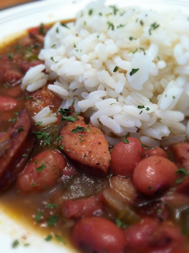 Red Beans and Rice The Pride of New Orleans.  These look delish . . .