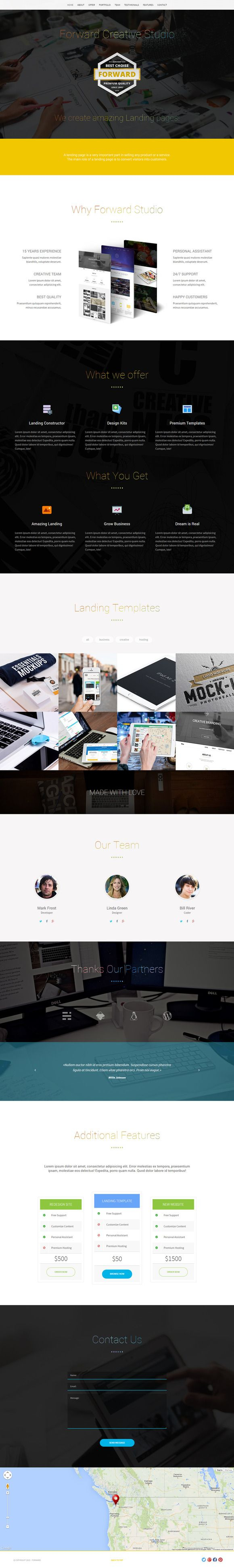 Forward Landing Page Template (HTML) by ShakeDesign on Creative Market