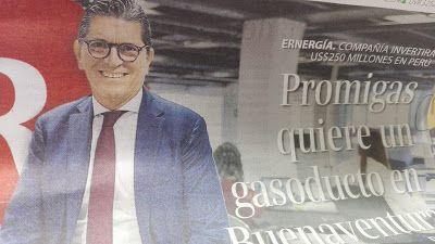 Promigas quisiera un gasoducto en Buenaventura: Antonio Celia