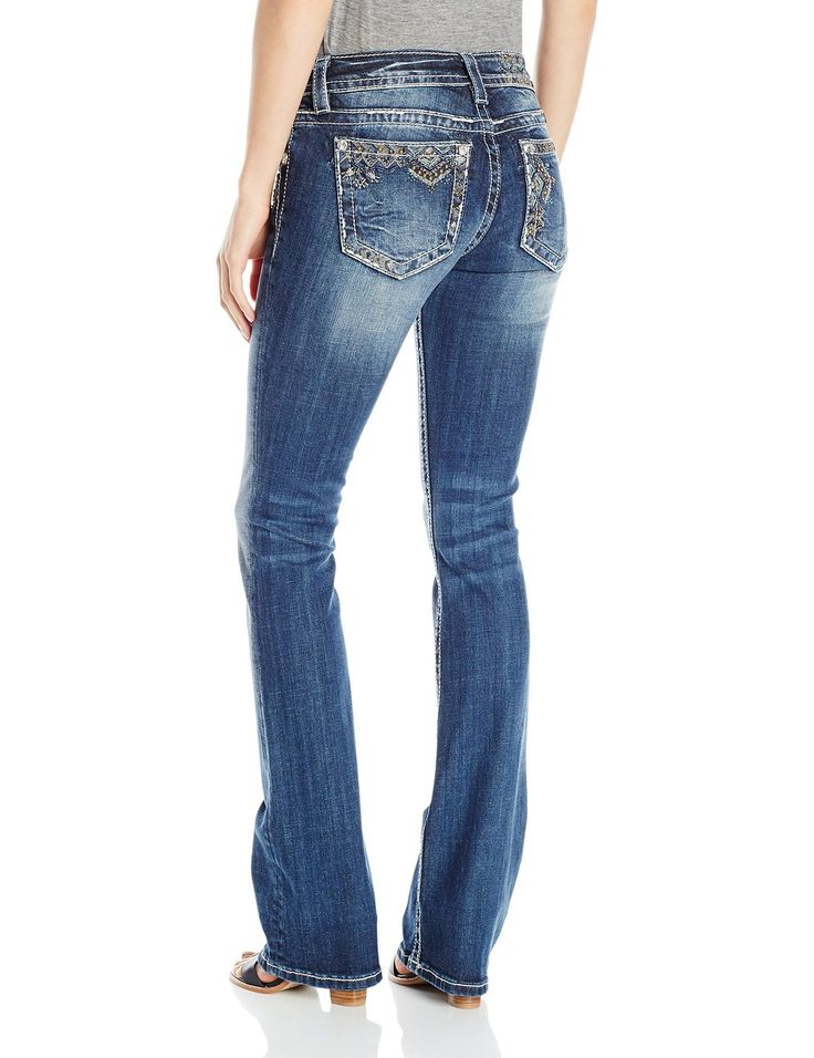 Amazon.com: Miss Me Women's Mid Rise Embellished Boot Cut: Clothing