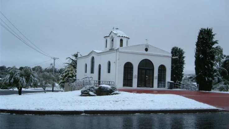 Goulburn snow NSW Photo: Allan Bensley - Greek Orthodox Church 12/10/2012