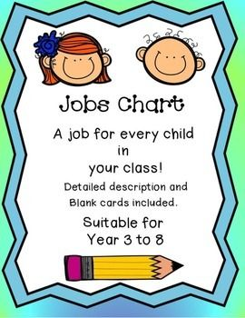 Middle School Jobs Chart: with Detailed Description