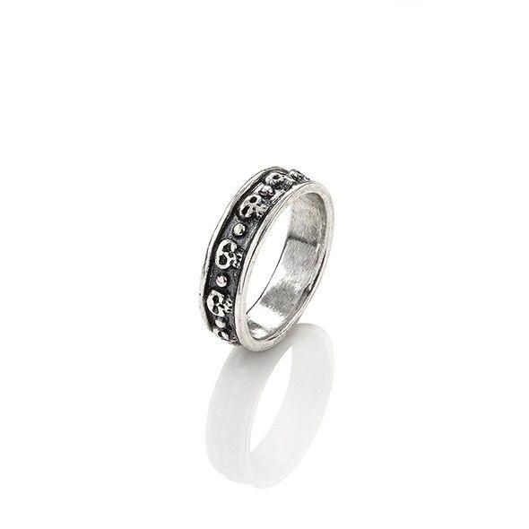 Anello da uomo in argento con teschi, Giovanni Raspini. Acquistalo subito su ScintilleShop.com!  #anello #uomo #raspini #argento #teschio