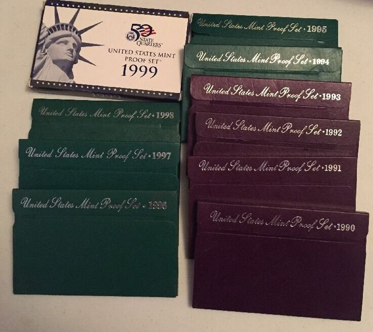 """#New post #Complete Lot of 10 US Mint 1990-1999 Proof Sets Coin Collection Original Boxes  http://i.ebayimg.com/images/g/79QAAOSwWxNYqNX-/s-l1600.jpg      Item specifics   Condition: Used         Seller Notes: """"Each box has a specification/certification within it. There is normal wear present on the boxes from opening/closing etc. (see close up photos). As pictured. Please view all pictures and then email if you have any... https://www.shopnet.one/complete-lot-of-10-"""