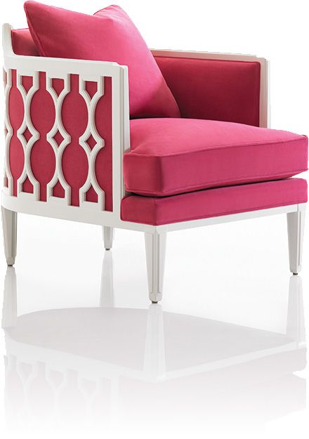 hot pink chair world market desk this exposed wood in white lacquer with velvet caught my eye for daughter s bedroom but it hit stylespotter radar