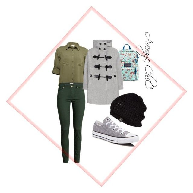 """Cas"" by taniaangell on Polyvore featuring Converse, JanSport, H&M, Burberry and UGG Australia"