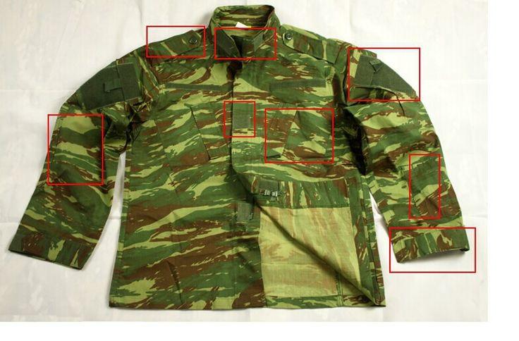 Армии сша военная форма для мужчин ACU Версия Греция ящерица костюмы Греческий шаблоны для подготовки военной форме