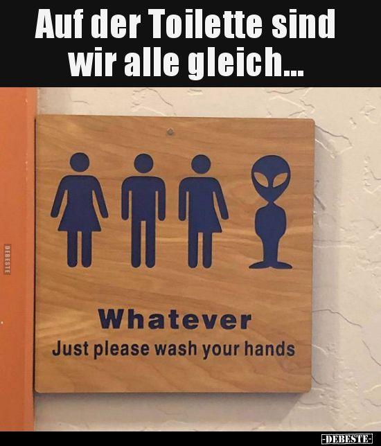 Auf der Toilette sind wir alle gleich… | Lustige…