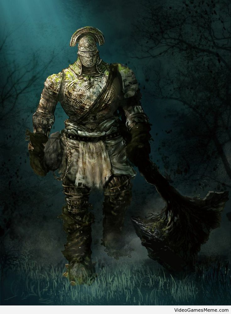 Awesome Dark Souls painting - http://www.videogamesmeme.com/game-art/awesome-dark-souls-painting/