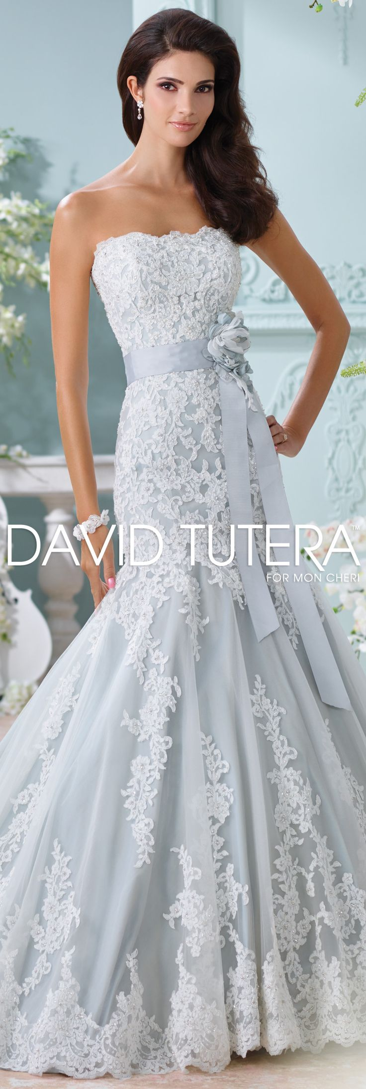 The David Tutera for Mon Cheri Spring 2016 Wedding Gown Collection - Style No. 116225 Thea