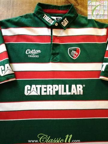 Official Cotton Traders Leicester Tigers home rugby shirt from the 2011/2012 season.
