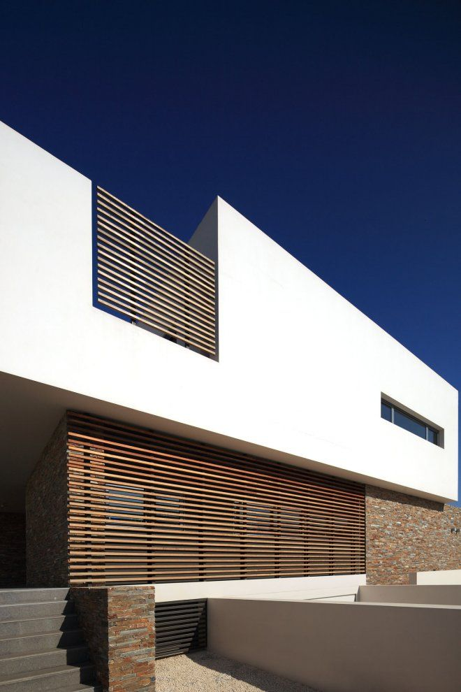 Pictures - Alpha House - Architizer #white #plaster #wood