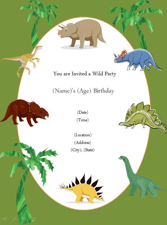 free printable invite! | dinosaur party | Pinterest ...