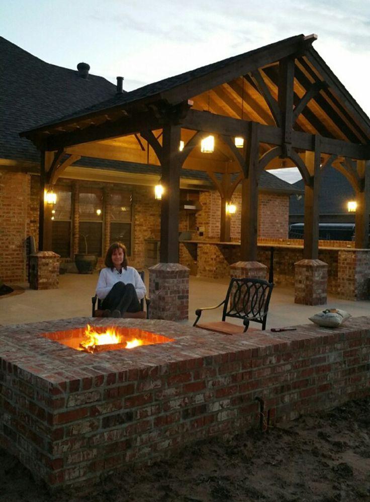 Feuerstelle und Pavillon Terrasse | Green Turf Bew…