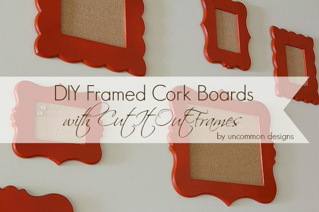 DIY Framed Cork Boards and Cut It Out Giveaway | Uncommon Designs