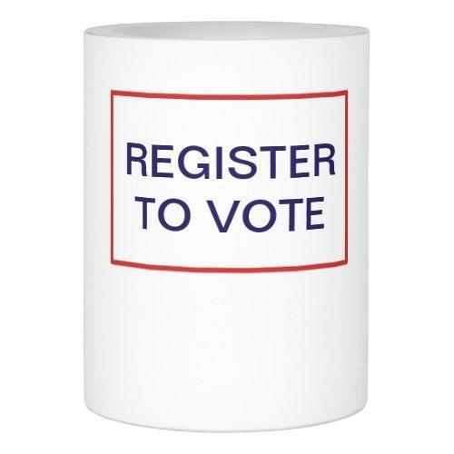 Register to Vote Resistance Vigil Flameless Candle - home decor design art diy cyo custom