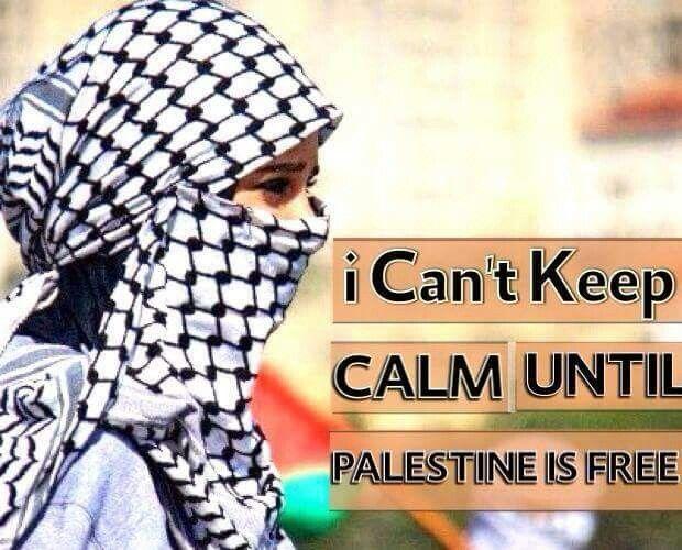 Exactly. Until Palestine is free!