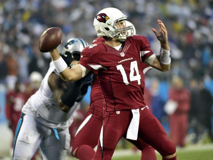 Arizona Cardinals quarterback Ryan Lindley (14) passes