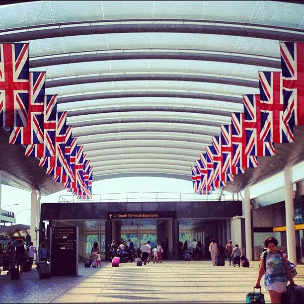 Gatwick Airport, some time in 2012.