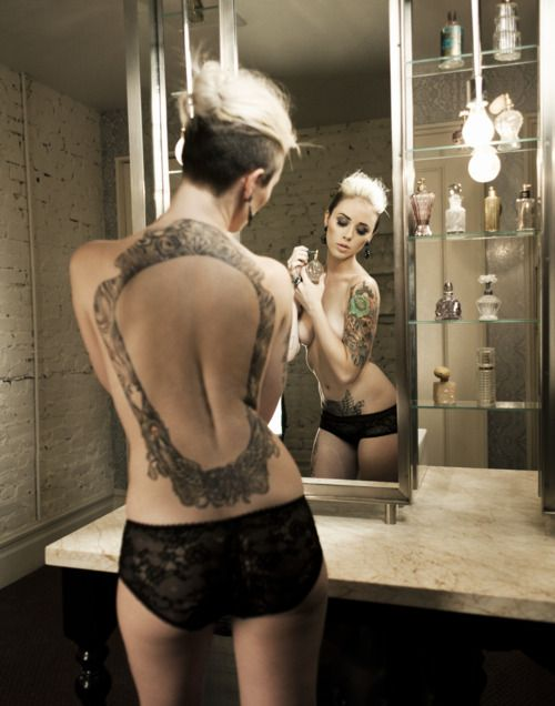 wow! nice behind: Inked Girls, Inkedmagazine Inkedgirl, Back Tattoos, Tattoo'S, Inked Tattooedgirl, Hair, Alysha Nett